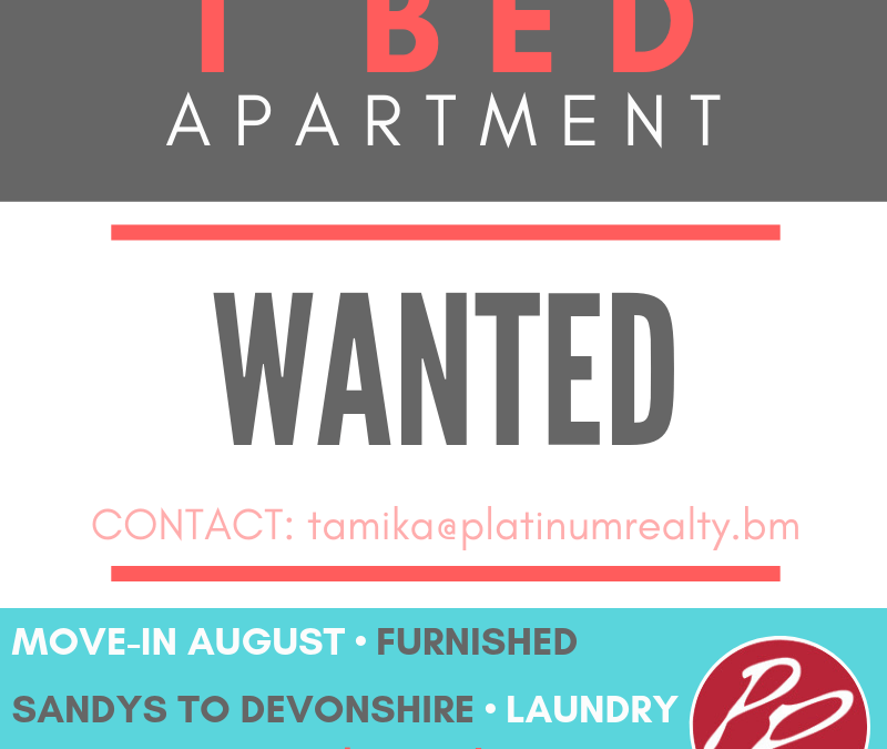 One Bedroom Wanted